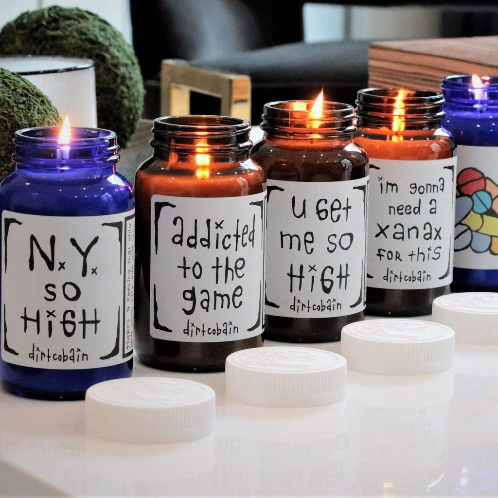 glass jar candle collection with one wick and white soy wax blend