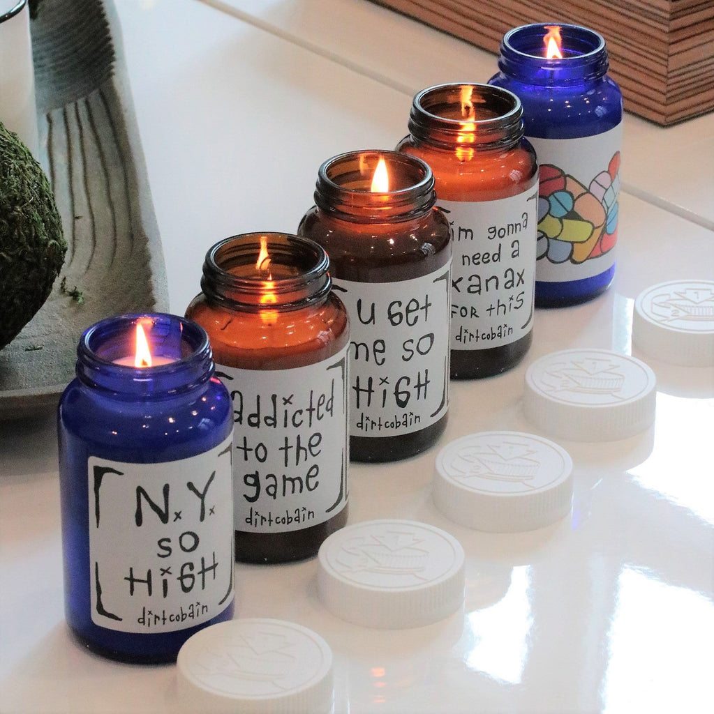 "Thompson Ferrier ""Addicted to Life"" Candle Collection by Dirt Cobain (set of 5) Candles"