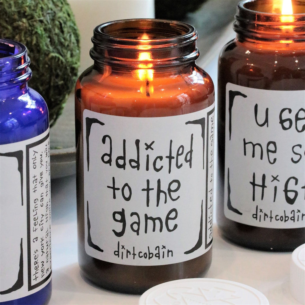 "Thompson Ferrier ""addicted to the game"" by Dirt Cobain candle"