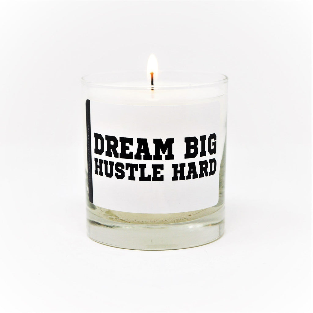 Thompson Ferrier Dream Big Hustle Hard candle