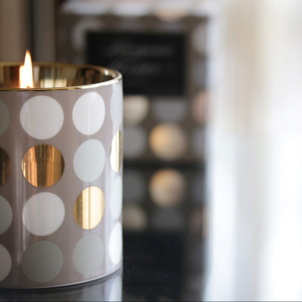 Grey and Gold Dots, Opus Collection Candle - Thompson Ferrier