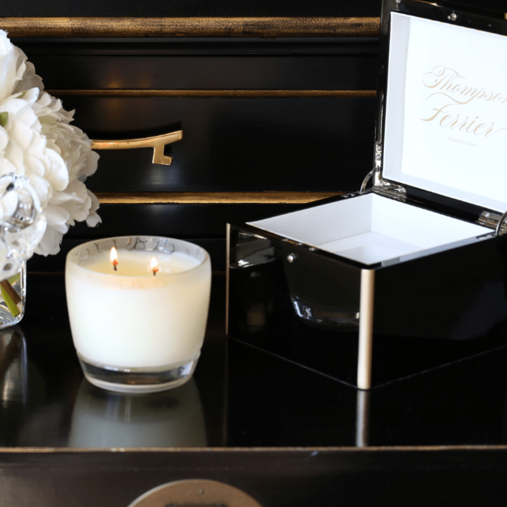 Lacquer Gift Box & Glass Candle - Thompson Ferrier