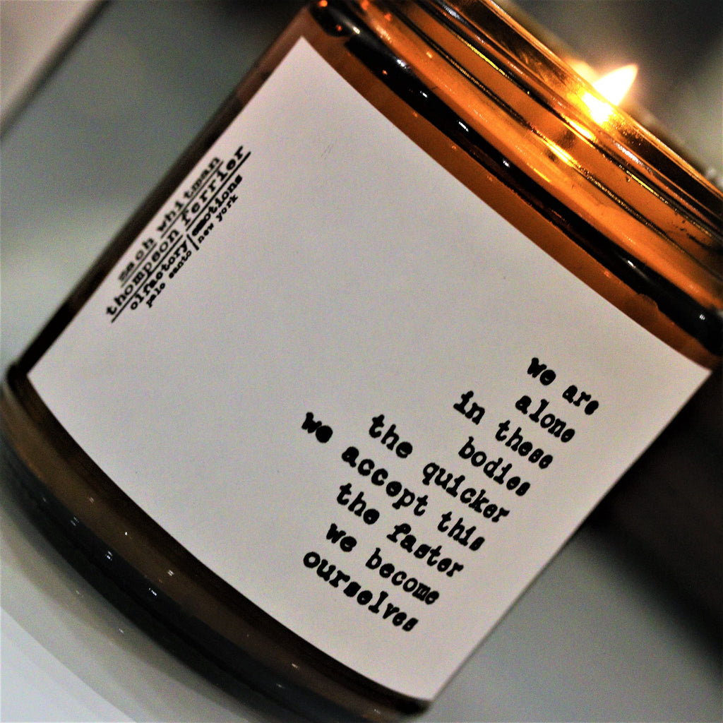 Zach Whitman's Ourselves Poetry Scented Candle - Thompson Ferrier