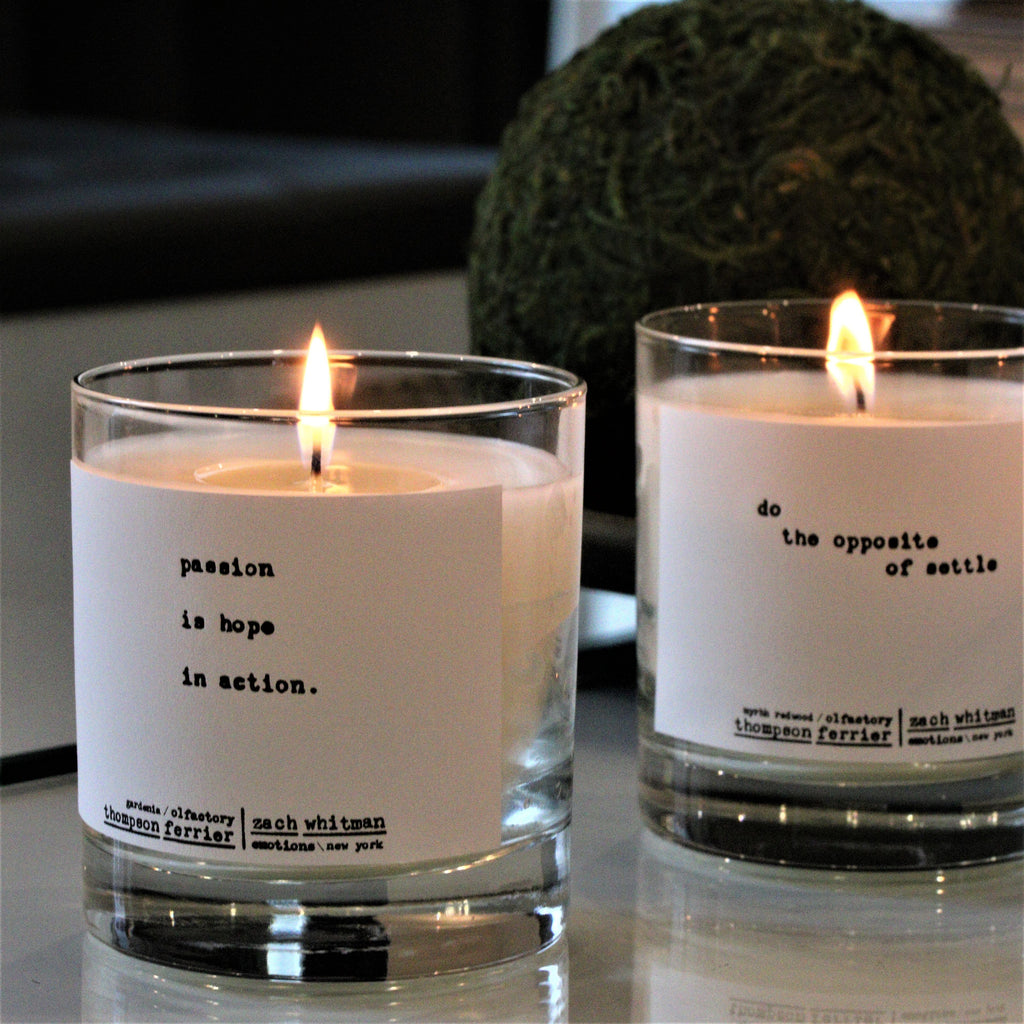 Zach Whitman's Luxury Passion Poetry Scented Candle