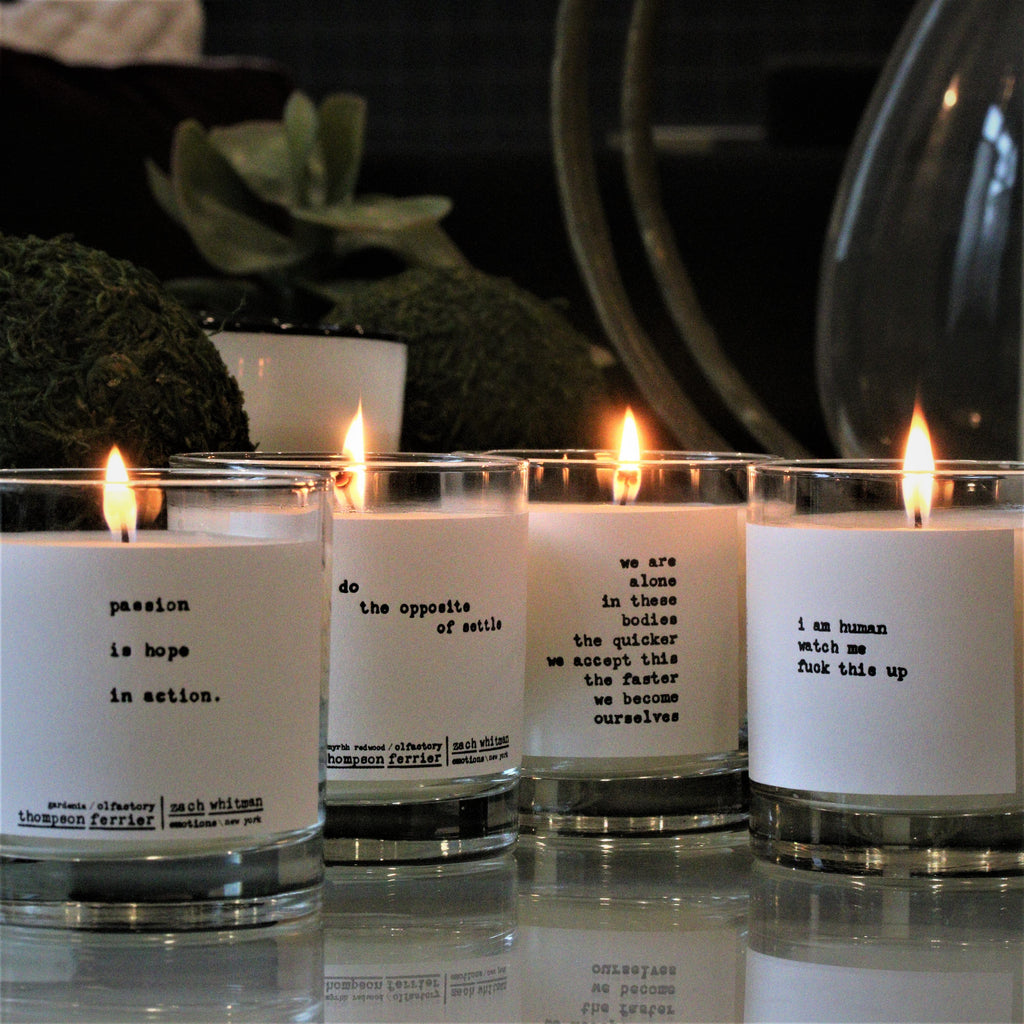 Zach Whitman's Luxury Human Poetry Scented Candle