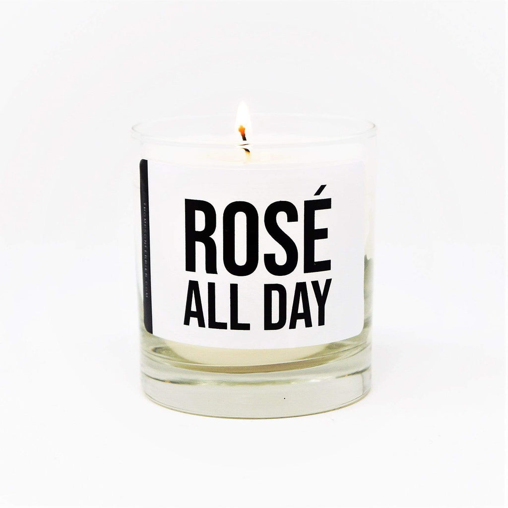 Rosé candle hand-poured scented with 100% cotton wicks, long-lasting, and a clean burn. Thompson Ferrier candles are a perfect housewarming gift, birthday gift, holiday gift, and more.