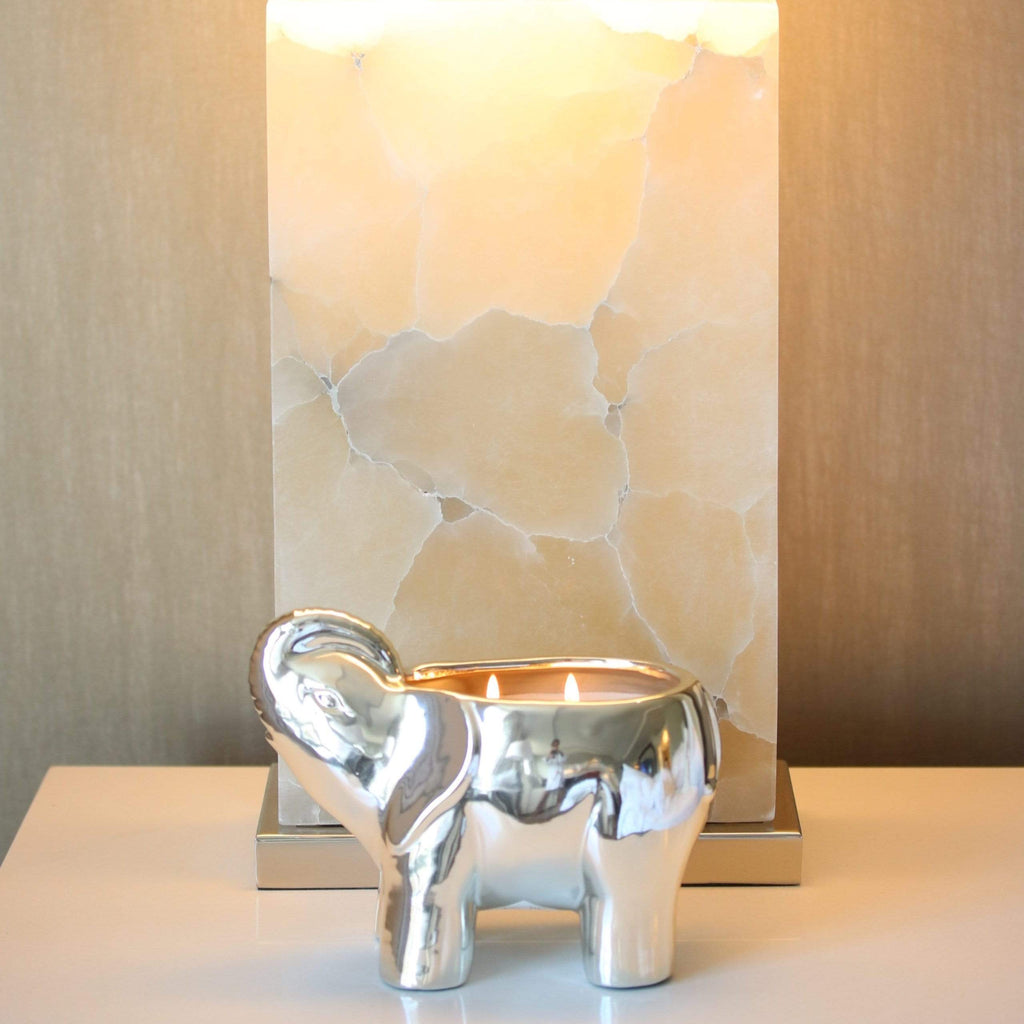 silver-ceramic-elephant-candle-with-2-lit-wicks