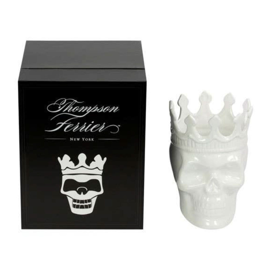 Thompson Ferrier White Louise Skull in Rose de Vents