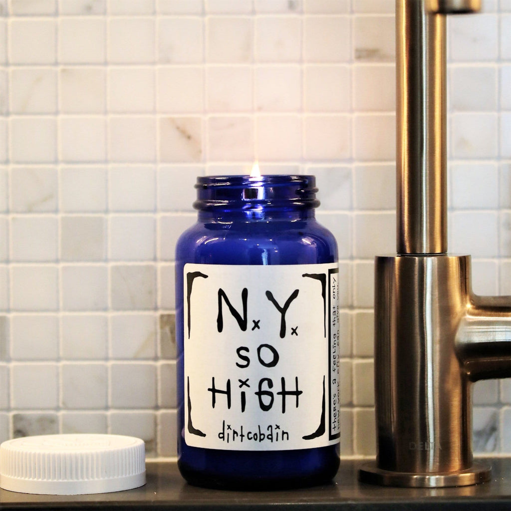 "Thompson Ferrier ""ny so high"" by Dirt Cobain candle"