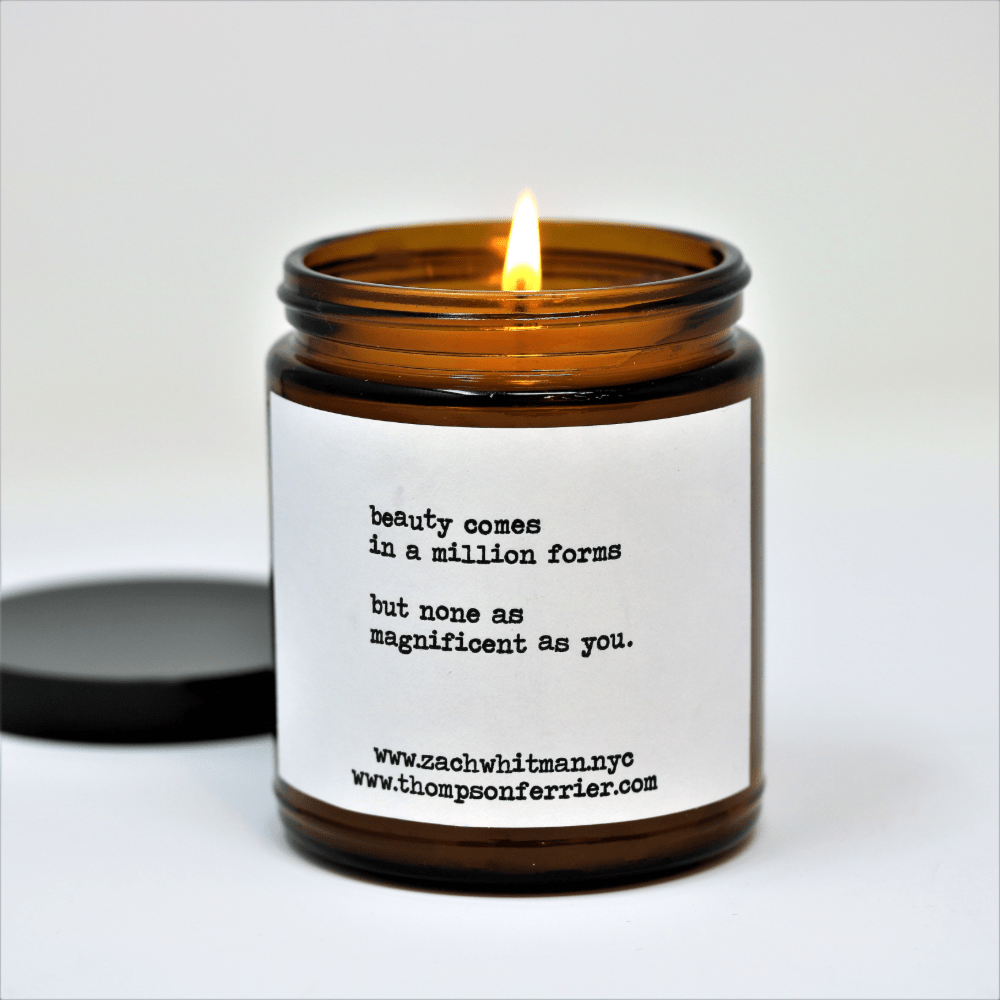 Zach Whitman's Beauty Poetry Scented Candle - Thompson Ferrier