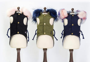 Fashion warm coat with fluffy hoodie for bunny rabbit Harness harness
