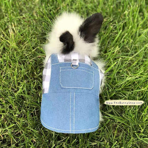 Handmade rabbit overalls, Bunny denim harness, Minions costume harness Harness Harness