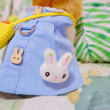 Load image into Gallery viewer, Kindergarten uniform pet harness shirt for bunny rabbit, small dogs, cat, kindergarten uniform , small pet costume shirt, harness shirt Harness Harness, Headwear
