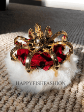 Load image into Gallery viewer, King's Crown for bunny rabbit , small dog, cats. prince crown, pet crown, royal crown, pet costume Pet Headwear Headwear