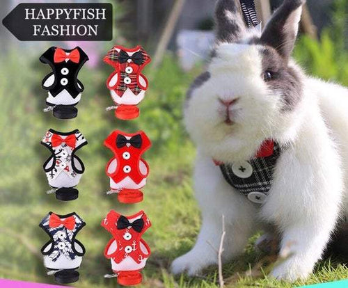 Pet suit harness, harness for pet bunny, harness for rabbits, small pet harness, pet tuxedo harness Harness Harness