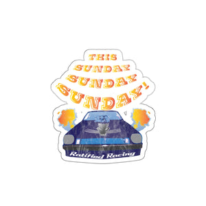 Sunday Sunday Vintage Drag Race Sticker