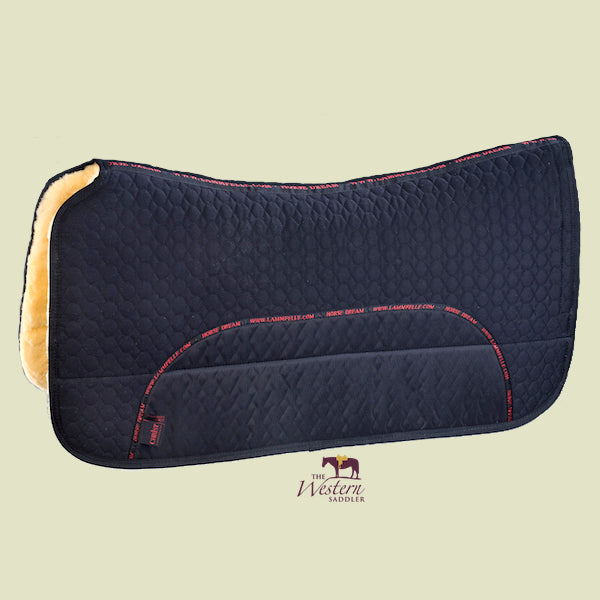 Christ Lammfelle Sheepskin Western Saddle Pad 30mm Black
