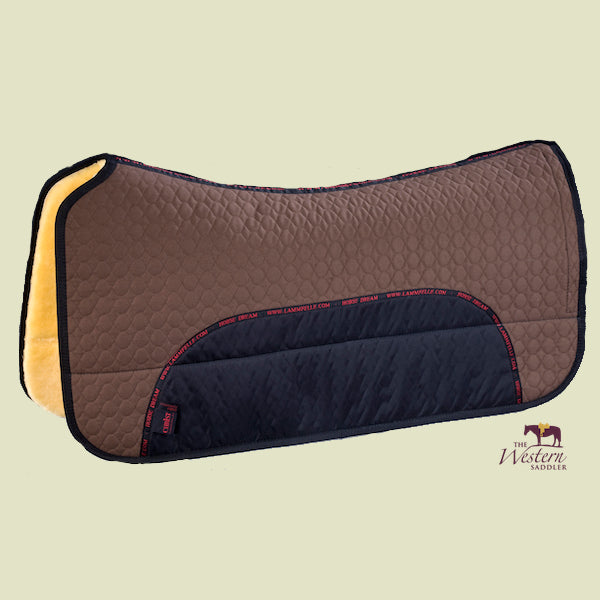 Christ Lammfelle Sheepskin Western Saddle Pad 30mm Brown
