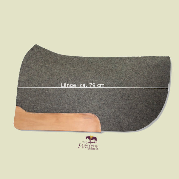 TWS Custom Anatomically Shaped Wool Felt Saddle Pad