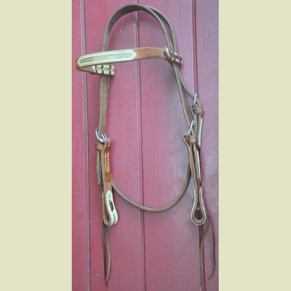 Rockin S Harness Headstall with Rawhide