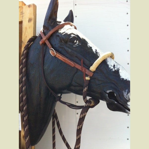 Buckaroo Leather Loping Soft-Nosed Hackamore