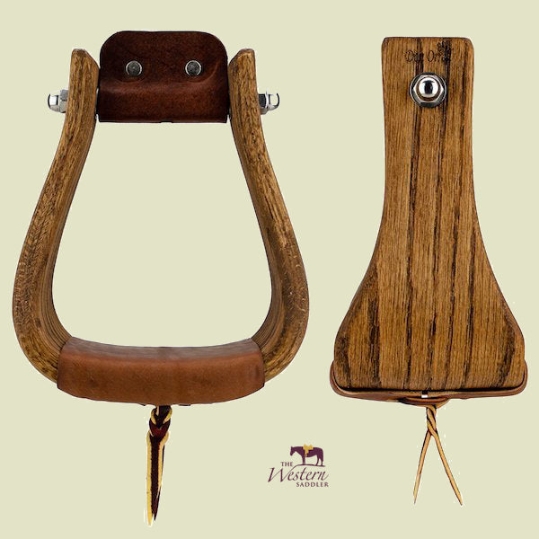 Don Orrell – Buckaroo Stirrups - Rancher Stained Oak