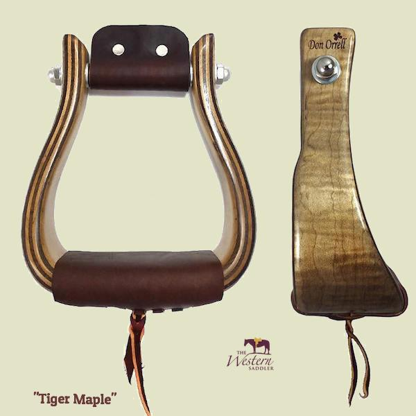 Don Orrell – Offset Stirrup - Tiger Maple