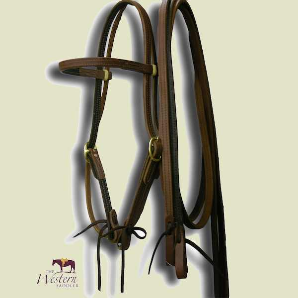 Buckaroo Harness Lined Ultimate Headstall and Rein Set