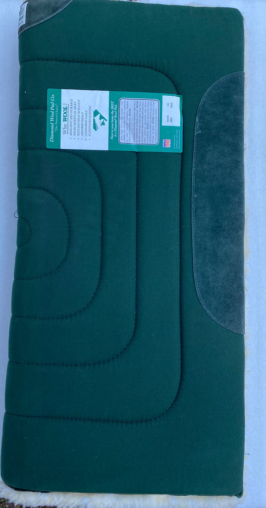 "Diamond Wool Cutter Wool Pad 32"" x 32"" - Hunter Green"