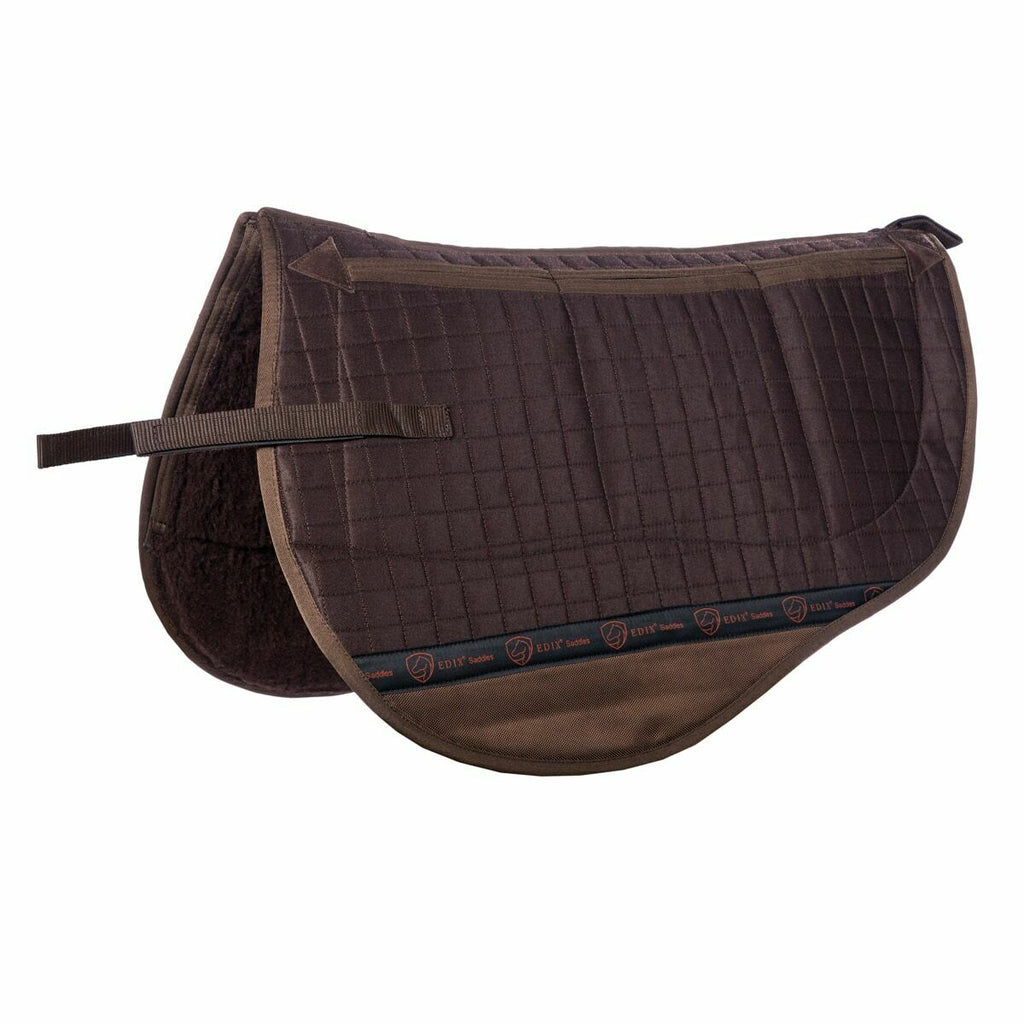 Edix Saddles Tiamo Felt Saddle Pad with Synthetic Wool Bottom Brown