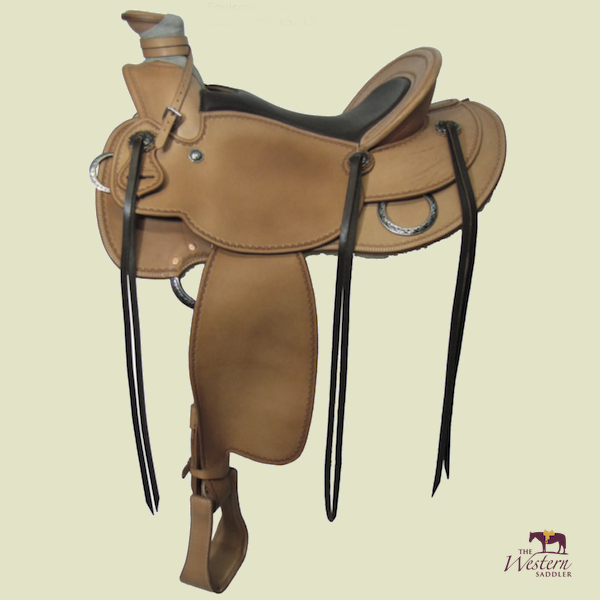 TWS Custom Buckaroo Saddle with Basic 3D Equiscan Wooden Tree