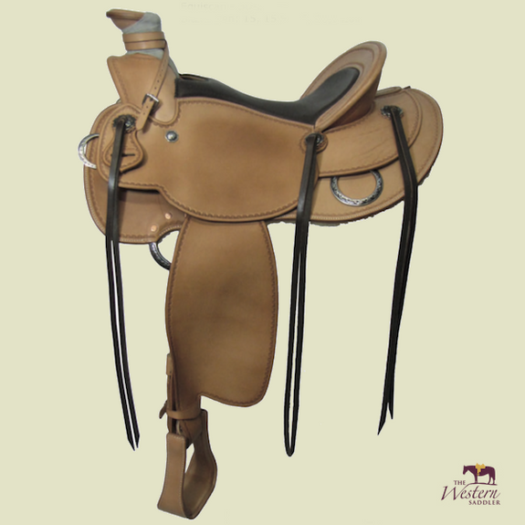 Top Saddlemaker Buckaroo Saddle with Basic 3D Equiscan Wooden Tree