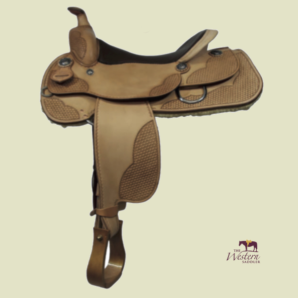 TWS Custom Reining Saddle with Basic 3D Equiscan Wooden Tree