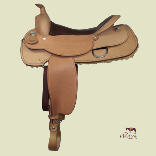 Top Saddlemaker Reining Saddle with Basic 3D Equiscan Wooden Tree