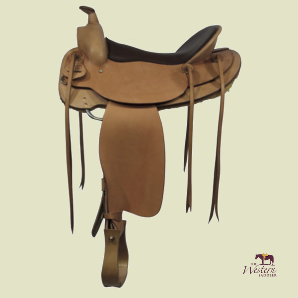 Top Saddlemaker Western Saddle with Basic 3D Equiscan Wooden Tree