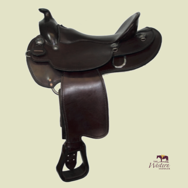 TWS Custom Western Saddle with Basic 3D Equiscan Wooden Tree