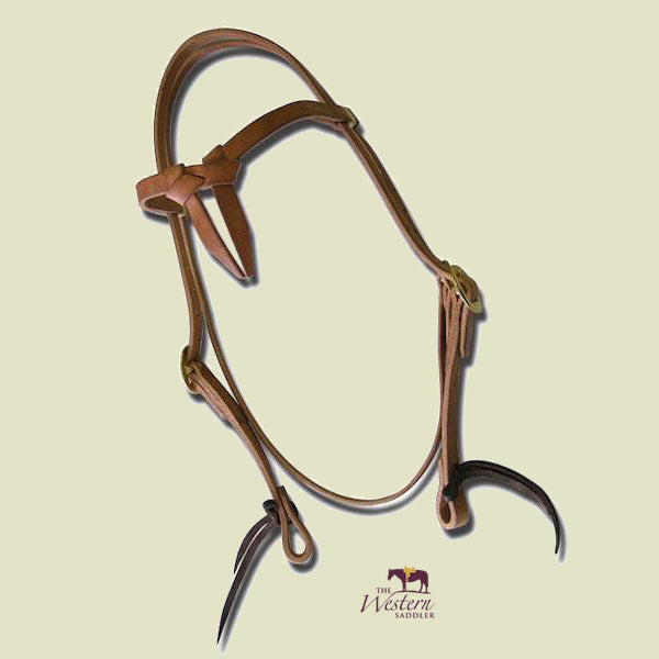 Buckaroo Cowboy Harness Leather Knotbrow Headstall