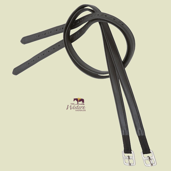 Barefoot® Black Soft-Leather Stirrup Leathers
