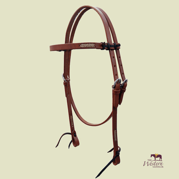 Browband Harness Headstall with Rawhide