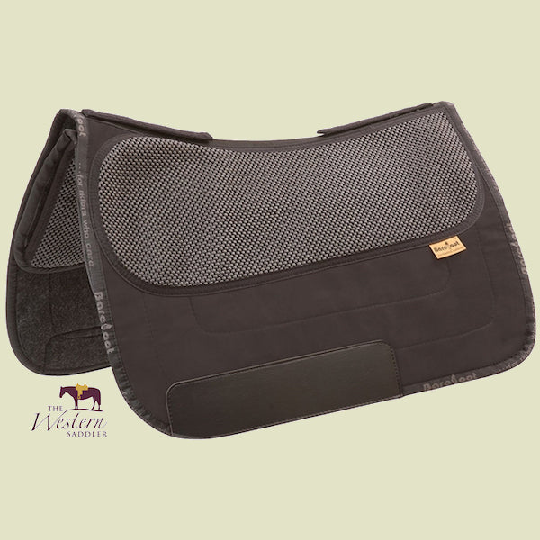 Barefoot Nevada/Madrid Black Physio Saddle Pad