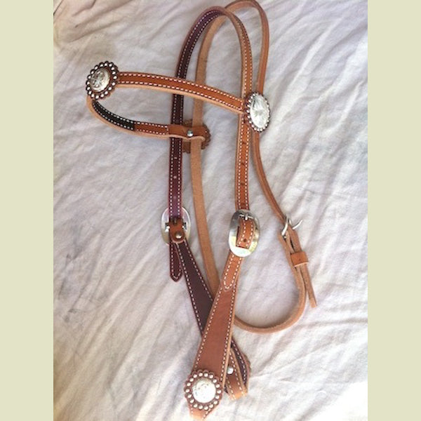 Buckaroo Vintage Tear Drop Cheek Headstall
