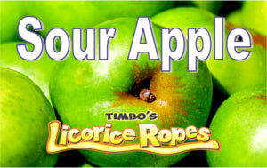 Sour Apple Licorice Ropes With these ropes there's no need to go apple picking to enjoy the crisp and mellow flavor of fresh apples. It's like having a bite of a ripe green sour apple with a Sweet-Sour taste to it. One of many people's favorite!