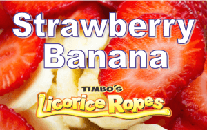 Our Strawberry-Banana Licorice Ropes are a Wonderful Blend of both Fruity Flavors. Creamy and Smooth tasting, they are the Favorite for many of our Timbo's Licorice Customers.