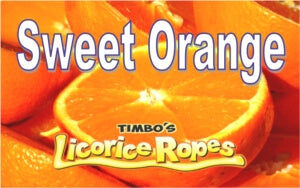 Our Sweet Orange Licorice Rope is a yummi Ice Cream inspired flavor with its delightful Orange and Vanilla blend. Very Delicious!  Popsicle Stick Not Included!