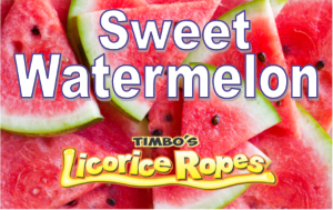 Sweet Watermelon Licorice Ropes tells it like it is, with no rind to throw away.