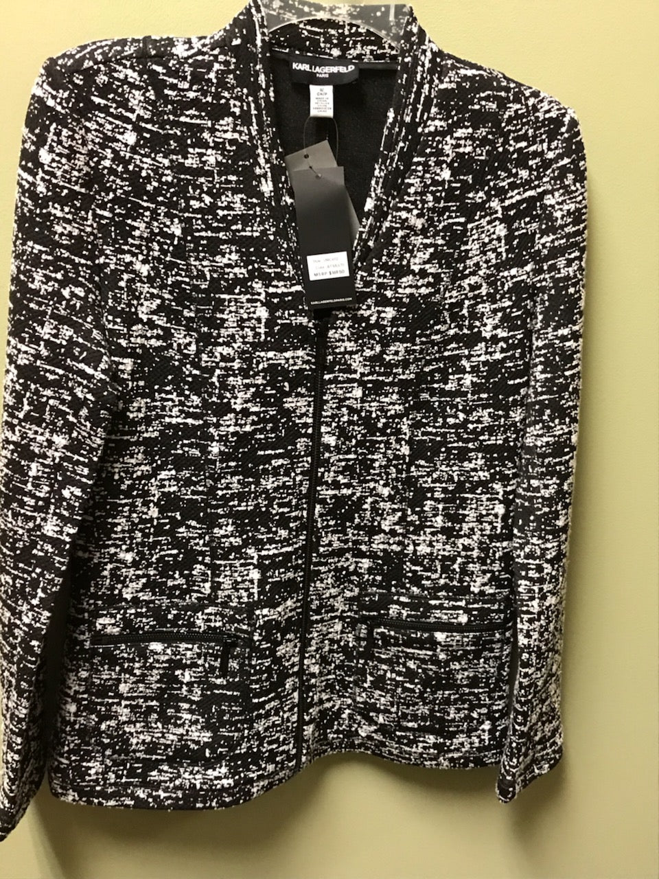 Karl Lagerfield NEW black/white jacket, size S