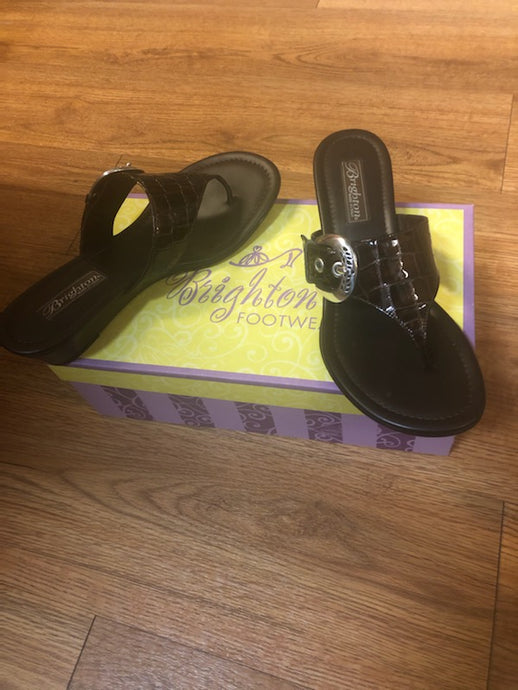 Brighton New Brown Sandals, size 7