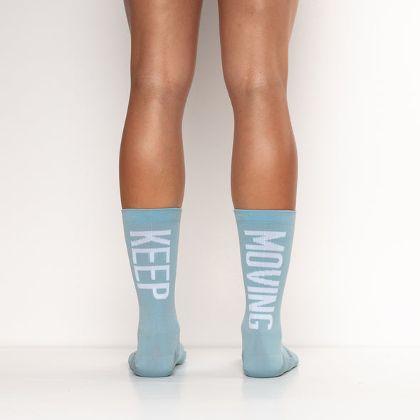 Keep Moving cyclists socks for women and men