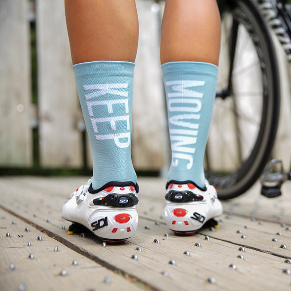 Performance socks for cyclists. Lightweight and durable. Keep Moving