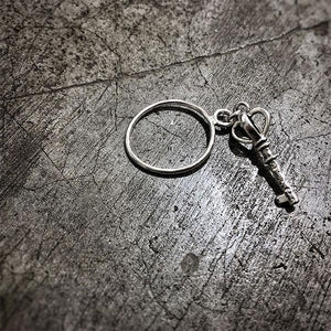SILVER KEY RING 2 | zoraromanska.com | ZR Zora Romanska - Handmade Leather Jewelry